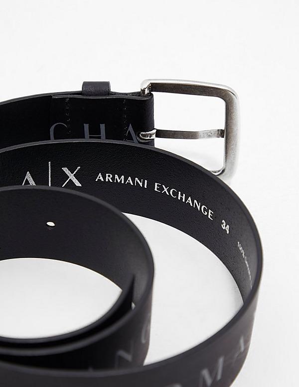 Armani Exchange Text Logo Belt