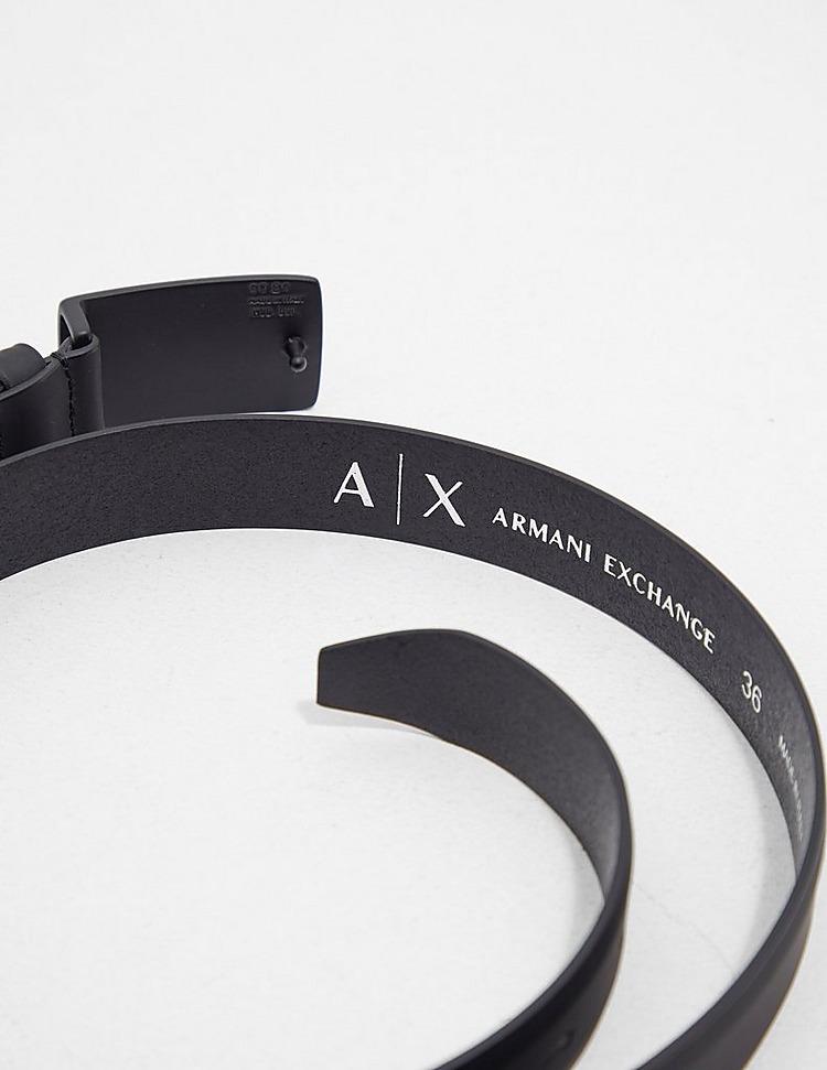 Armani Exchange Logo Buckle Belt