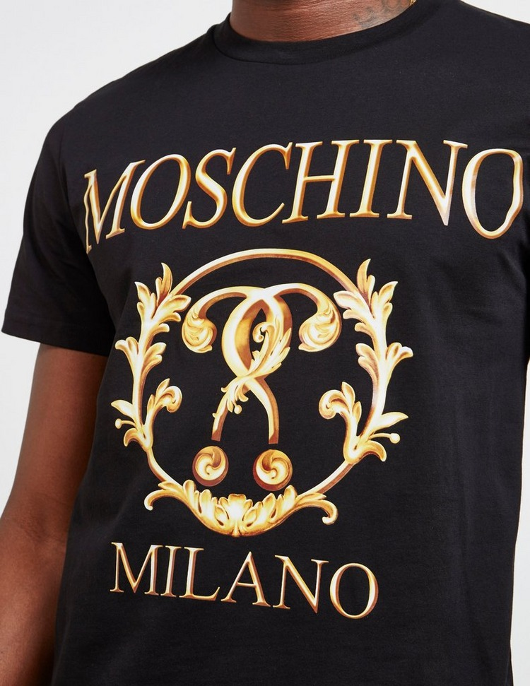 Moschino Gold Print Short Sleeve T-Shirt
