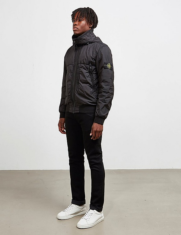Stone Island Garment Dyed Hooded Bomber Jacket