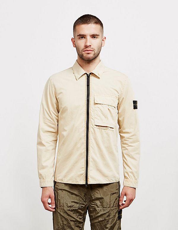 Stone Island Garment Dyed Cotton Overshirt