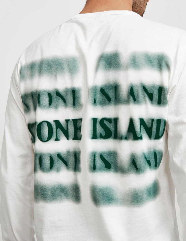 Stone Island Back Logo Long Sleeve T-Shirt