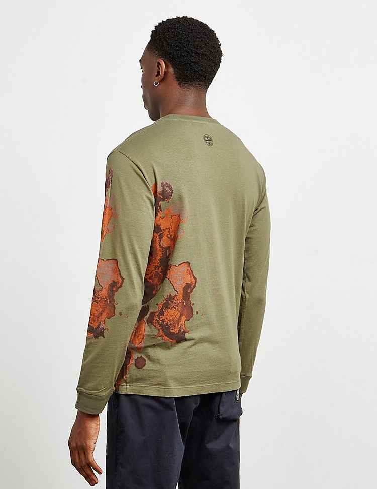 Stone Island Paint Long Sleeve T-Shirt
