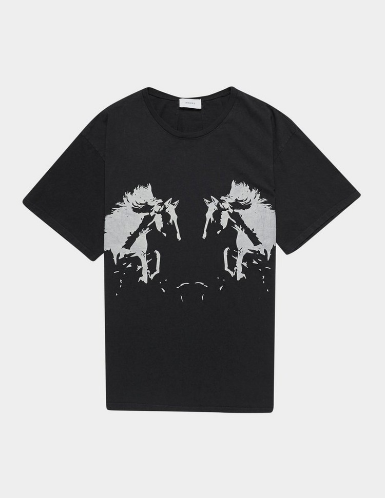 RHUDE Double Horse Short Sleeve T-Shirt