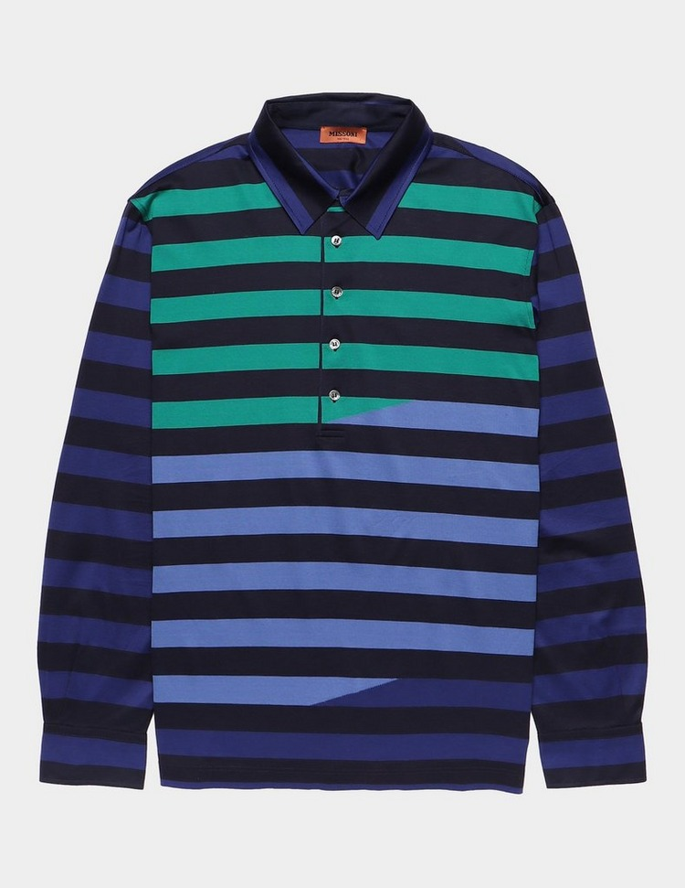 Missoni Broken Stripe Short Sleeve Polo Shirt