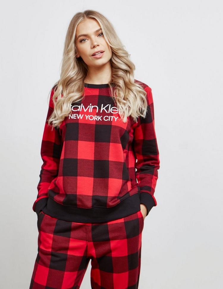 Calvin Klein Underwear Check Long Sleeve Lounge Top