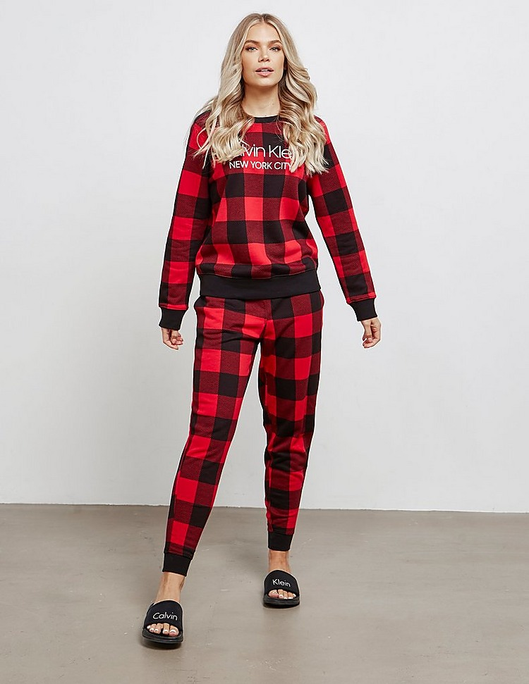 Calvin Klein Check Long Sleeve Lounge Top