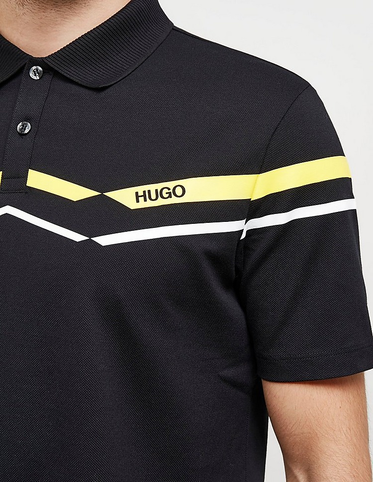 HUGO Dapporo Chevron Short Sleeve Polo Shirt
