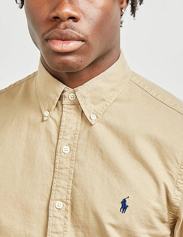 Polo Ralph Lauren Garment Dyed Long Sleeve Slim Shirt