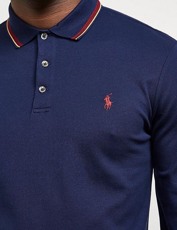 Polo Ralph Lauren Mesh Tipped Long Sleeve Polo Shirt