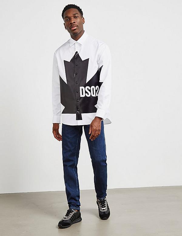 Dsquared2 Large Leaf Long Sleeve Shirt