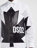 Dsquared2 Large Leaf Long Sleeve Shirt