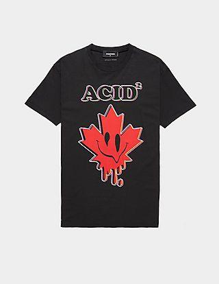 Dsquared2 Acid Leaf Short Sleeve T-Shirt