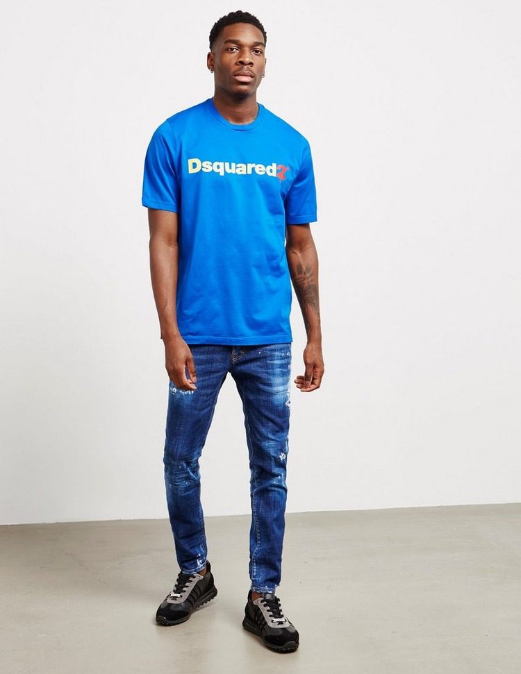Dsquared2 Drip Logo Short Sleeve T-Shirt