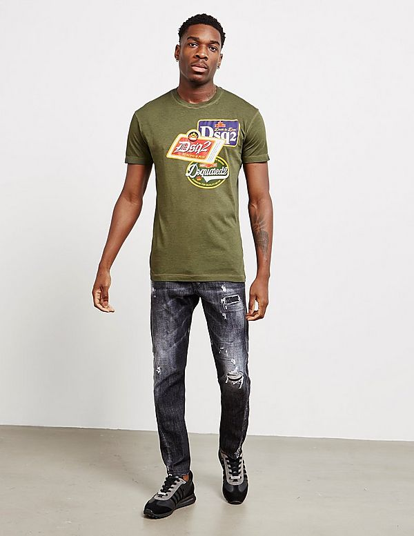 Dsquared2 Beer Patch Short Sleeve T-Shirt