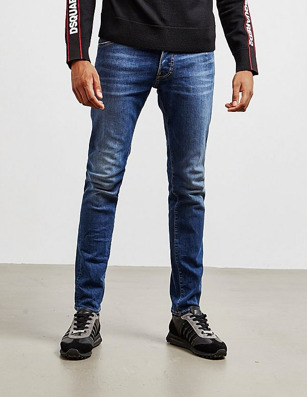 Dsquared2 Cool Guy Half Leaf Skinny Jeans