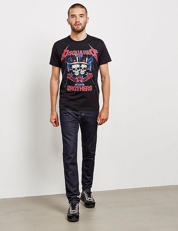 Dsquared2 Skull Brothers Short Sleeve T-Shirt