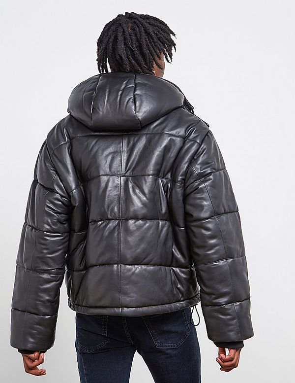 McQ Leather Puffer Jacket
