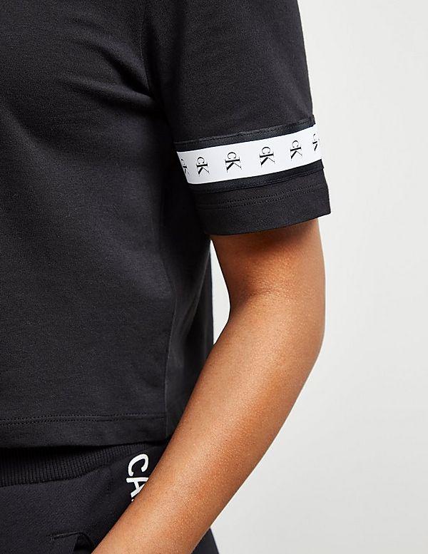 Calvin Klein Jeans Tape Short Sleeve Crop T-Shirt