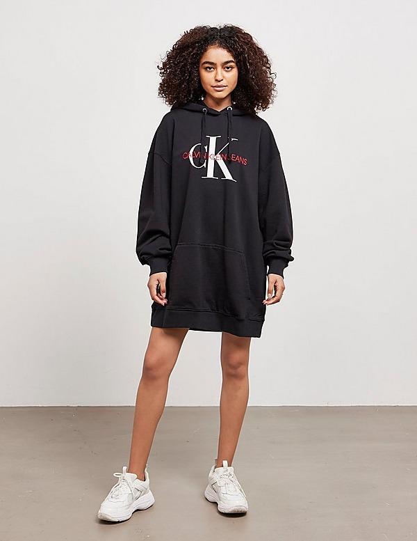Calvin Klein Jeans Monogram Hooded Dress