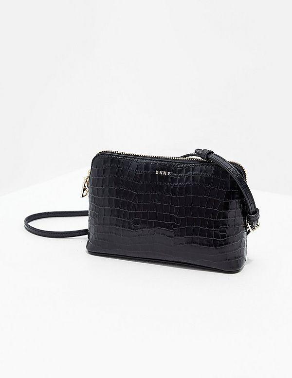 DKNY Bryant Croc Cross Body Bag