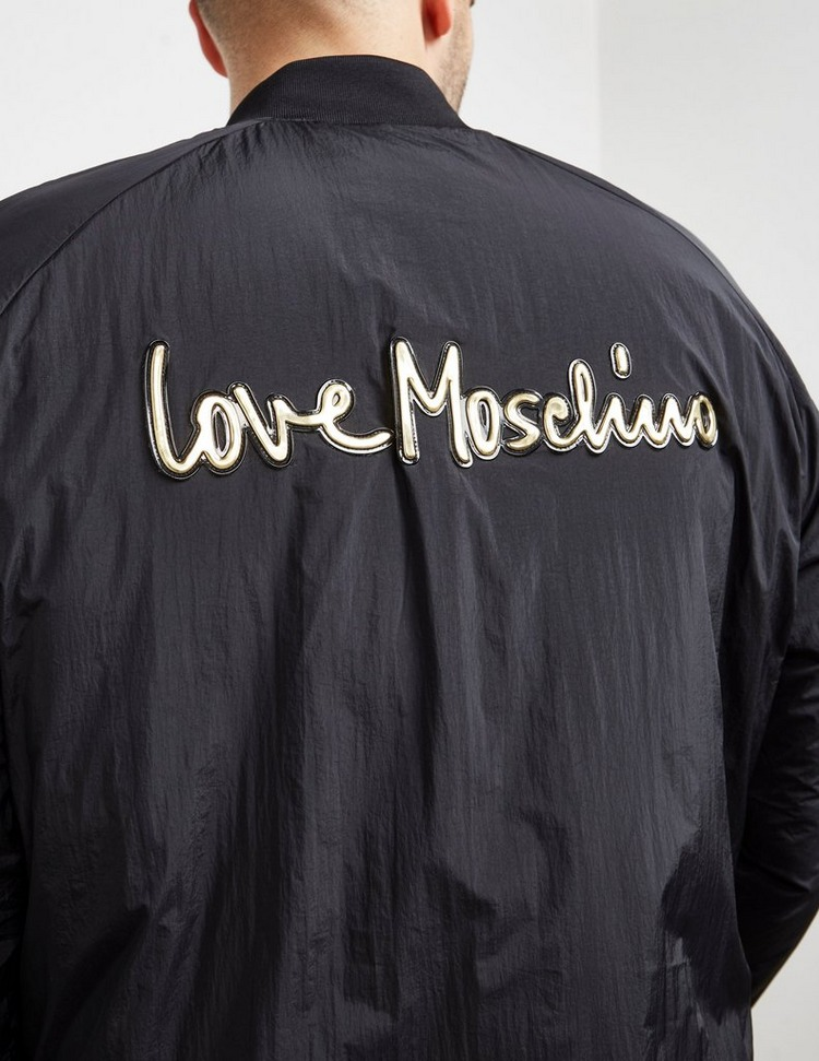 Love Moschino Gold Script Bomber Jacket