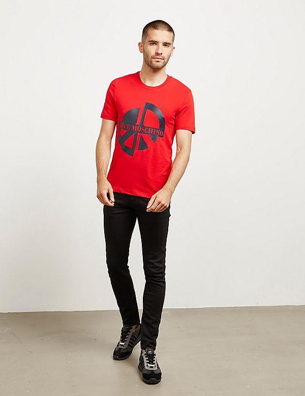 Love Moschino Broken Peace Short Sleeve T-Shirt