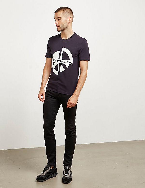 Love Moschino Broken Peace Short Sleeve T-Shirt