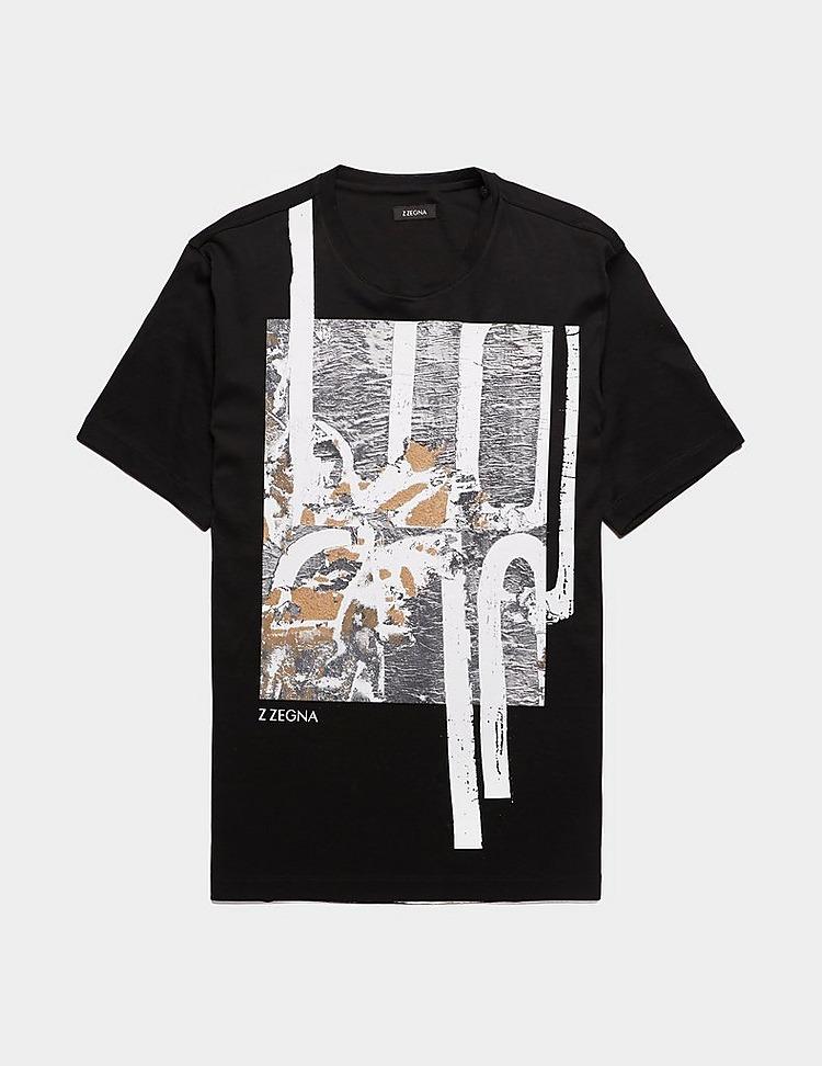 Z Zegna Paint Drip Short Sleeve T-Shirt