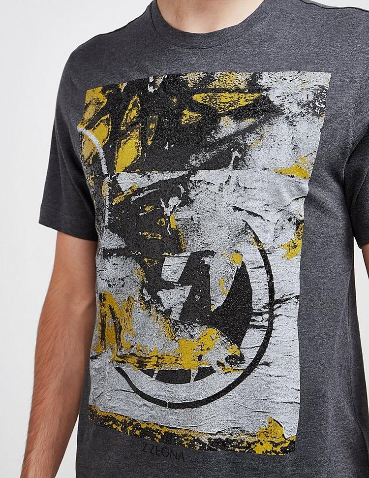 Z Zegna Paint Graphic Short Sleeve T-Shirt