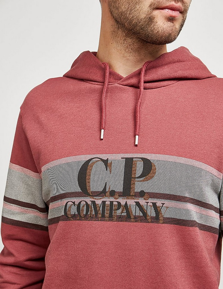 CP Company Stripe Logo Hoodie