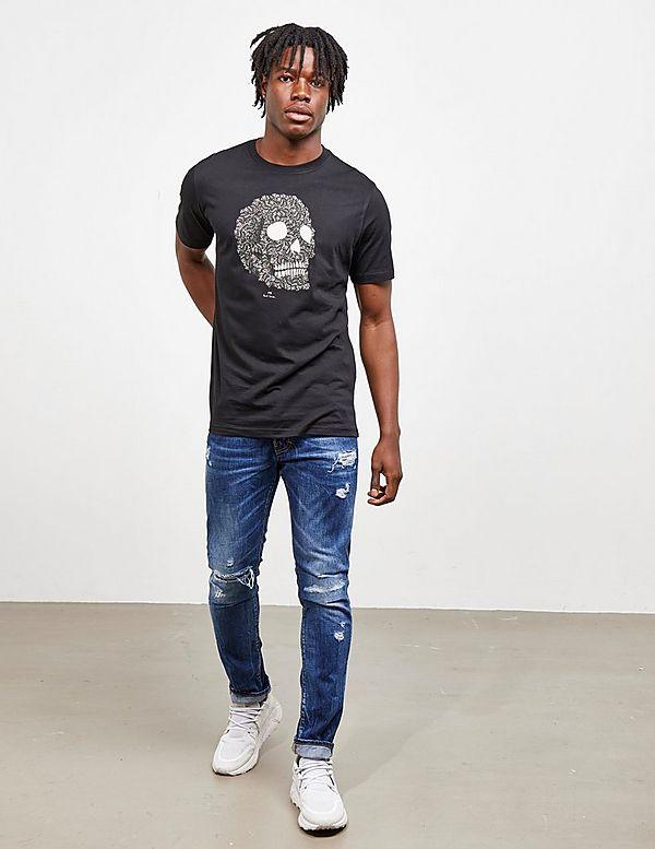 PS Paul Smith Zebra Skull Short Sleeve T-Shirt