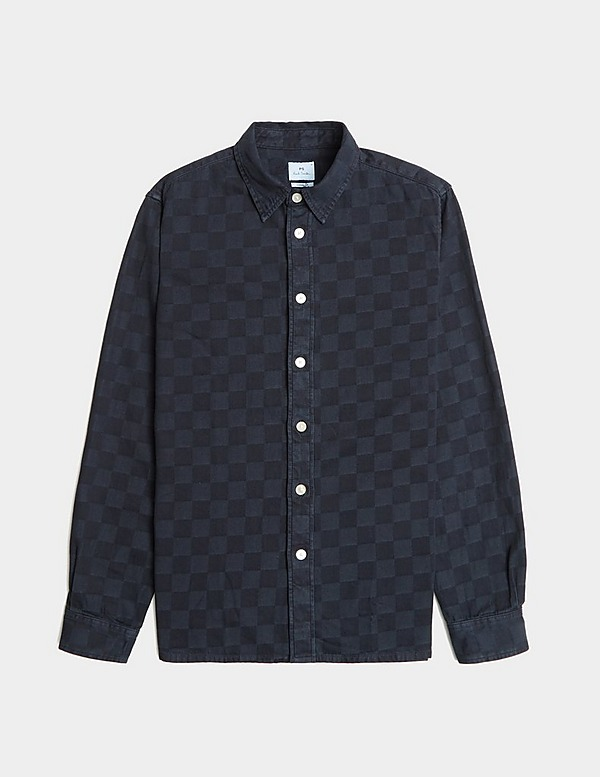 PS Paul Smith Checkerboard Long Sleeve Shirt