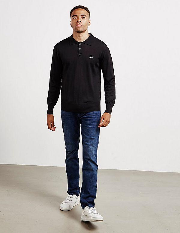 Vivienne Westwood Knit Long Sleeve Polo Shirt