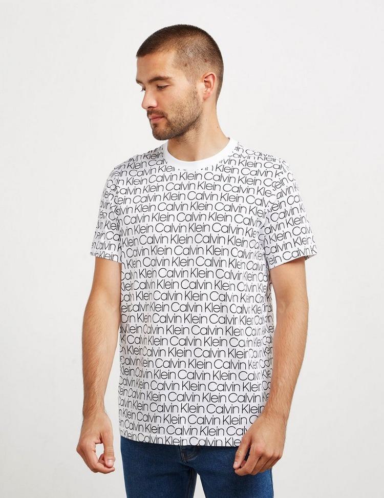 Calvin Klein Lounge All Over Logo Short Sleeve T-Shirt