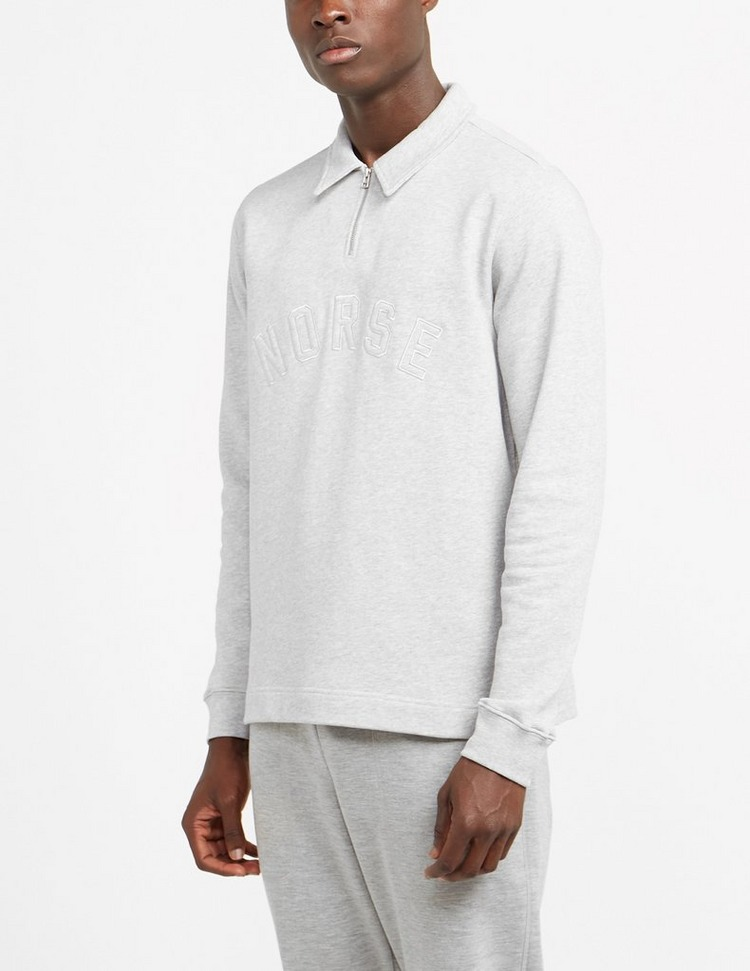 Norse Projects Logo Half Zip Polo Shirt
