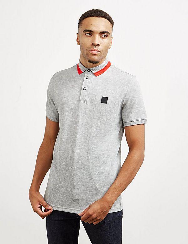 BOSS Pase Twin Collar Short Sleeve Polo Shirt