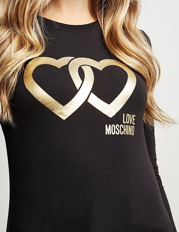 Love Moschino Heart Link Long Sleeve T-Shirt