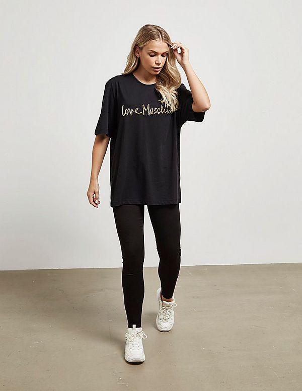 Love Moschino Gold Script Short Sleeve T-Shirt