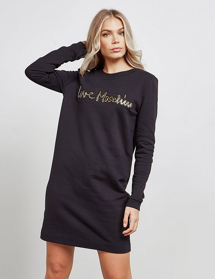 Love Moschino Gold Script dress