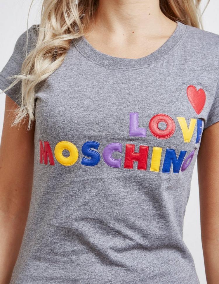 Love Moschino Multi Logo Short Sleeve T-Shirt