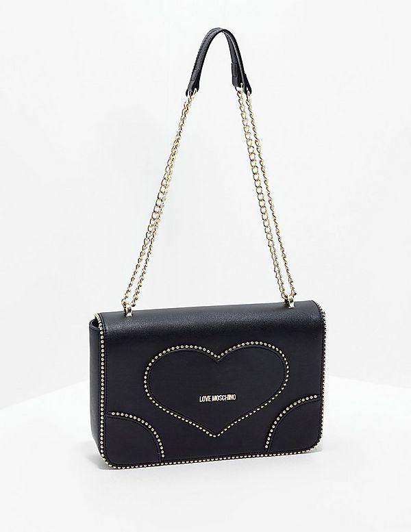Love Moschino Heart Stud Shoulder Bag