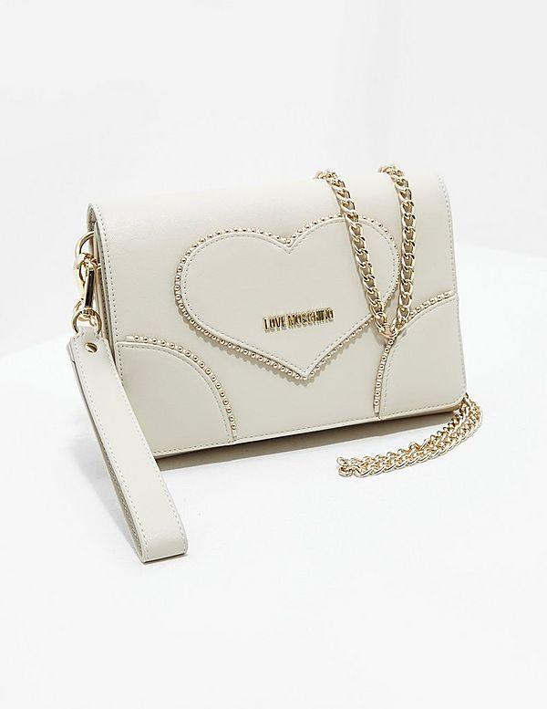 Love Moschino Heart Stud Cross Body Bag