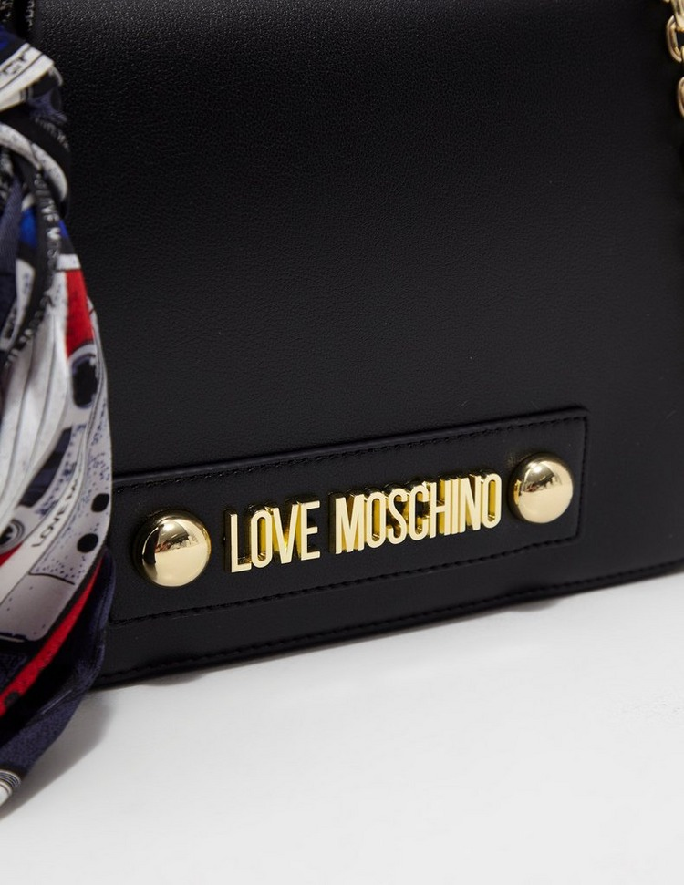 Love Moschino Logo Scarf Shoulder Bag