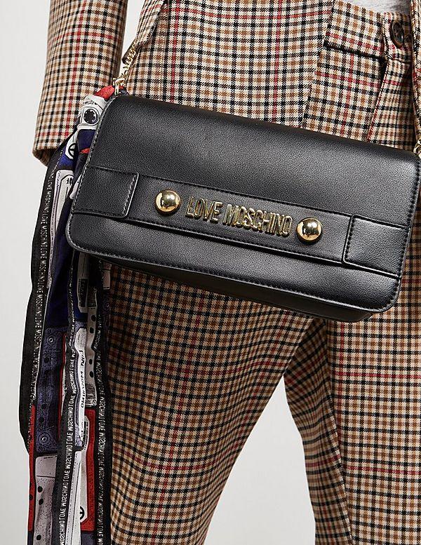 Love Moschino Logo Scarf Clutch Bag
