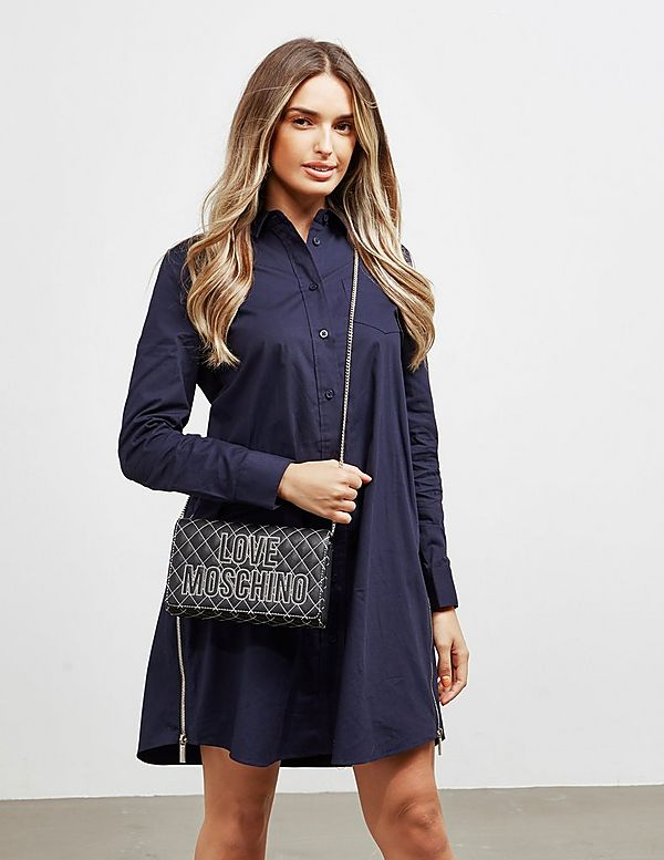 Love Moschino Stitch Quilted Shoulder Bag