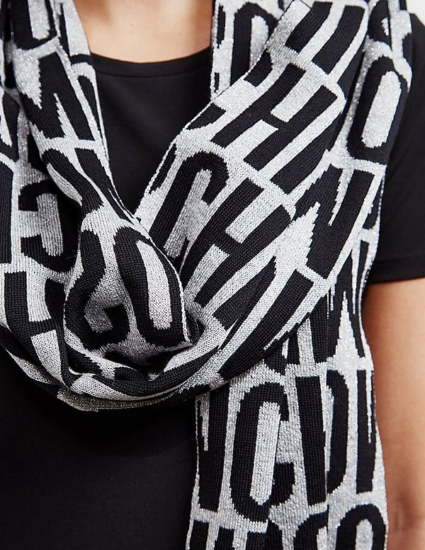 Moschino All Over Logo Scarf
