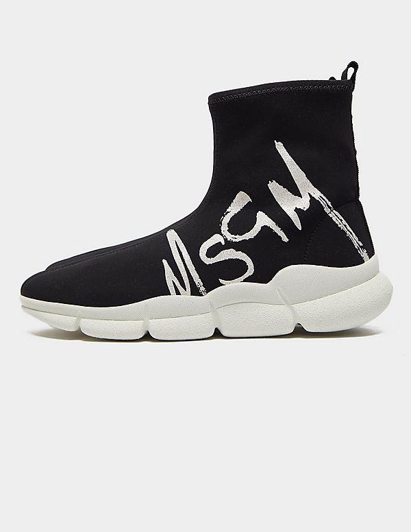 MSGM Glitter Logo Sock Runner