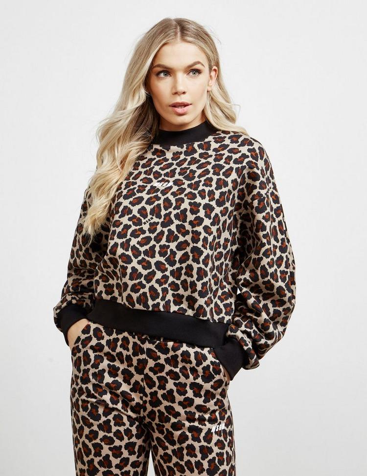 MSGM Leopard High Neck Sweatshirt