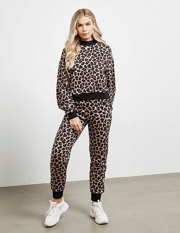 MSGM Leopard Track Pants